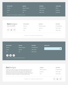 footer design PSD templates for websites use it as a general temperate for web design projects