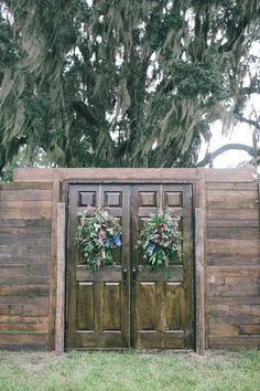 Evening Wedding in a Barn & Rustic barn wood wedding doors..vintage..rent @ Flowers by Tammy 423 ...