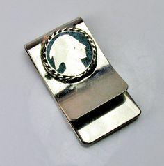 Vintage Money Clip Indian Head On Silver by SunburyVintageStore