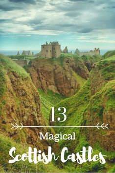 Magical Castles of Scotland. Europe is full of beautiful castles but none as magical as the ones you will find in Scotland. Come discover 13 magical Scottish castles. #scotlandtravel