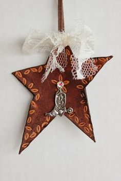 Home made western tree ornaments