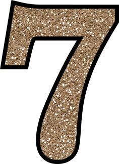 This set of free printable letters 0 - 9 have a glitter pattern and will add some glittery shine to your next craft or handmade card making project.: Glitter Number 7 To Print Free Printable Numbers, Printable Letters, Free Printables, Happy Birthday Printable, Glitter Letters, Big Letters, Handmade Card Making, Stencil Templates, Birthday Numbers