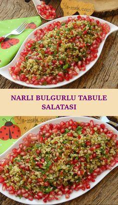 Narlı Bulgurlu Tabule Salatası Salsa, Ethnic Recipes, Food, Essen, Salsa Music, Meals, Yemek, Eten