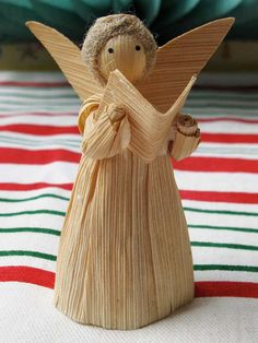 Vintage Corn Husk Angel Doll Christmas Holiday by ClockWinder