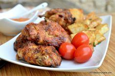 Coaste de porc marinate - la cuptor sau gratar cu sos BBQ | Savori Urbane Tandoori Chicken, Ethnic Recipes, Food, Essen, Meals, Yemek, Eten