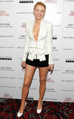 Blake Lively, wow..really nice legs! Pretty too!