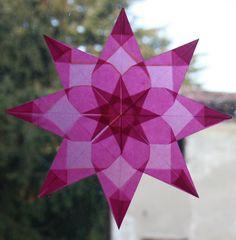 Window Star pictoral tutorial - LAVORETTI PER NATALE - stella di carta trasparente