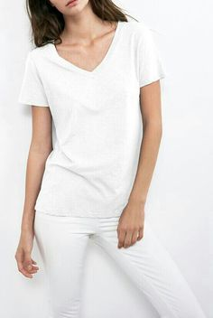 classic white tee + jeans #style #fashion