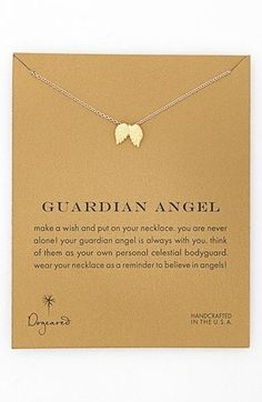 Dogeared 'Reminder - Guardian Angel' Boxed Wings Pendant Necklace available at #Nordstrom