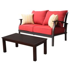 Shop allen + roth 2-Piece Gatewood Patio Conversation Set at Lowes.com  This could even go on a front porch