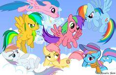 Rainbow Dash generations (Rainbow Dash always dresses in style!)