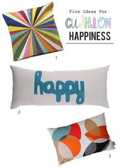 Cushion ideas for a fresh start in 2013.