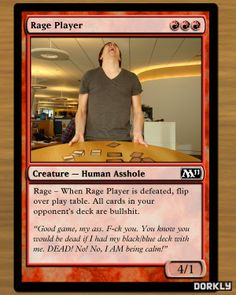 Magic cards based on people who play Magic: The Gathering. This card is definitely me. ha! #MTG