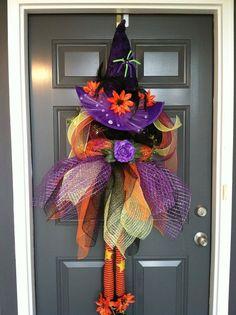 Guirnalda Halloween bruja lujo