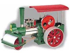 """The Wilesco D375 Steam Roller Kit is a fully operational steamroller in kit form, for the enthusiast.  It has a Mirror polished and nickel plated boiler, with a diameter of 1.8"""", length 7.3"""", boiler capacity 14 in, with water gauge glass. Double action reversible brass cylinder, with flywheel, spring loaded safety valve, steam regulator, steam whistle, steam jet oiler and footbridge.    Smoke stack, traditional steering wheel chain drive.  Flywheel with a diameter of 3.2"""" with grooved…"""