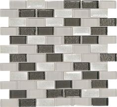 "Discount Glass Tile Store - Crystal Shores - Diamond Delta 1"" x 2"" Brick Glass Mosaic Tile, $15.99 (http://www.discountglasstilestore.com/crystal-shores-diamond-delta-1-x-2-brick-glass-mosaic-tile/)"