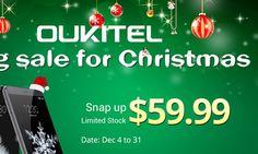 Oukitel K6000, K4000, A29 con Grandes Descuentos Estas Navidades