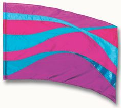 fi187Elg Pink, purple, aqua Color Guard flag from The Band Hall