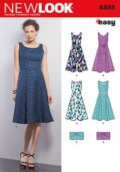 New Look 6393 - Misses Dresses and Purses, Size 8-18