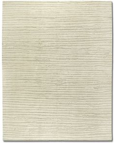 Shearling WHite / WOol & LInen / Hand Knotted ARea rug