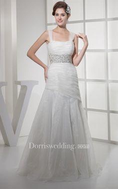 #Valentines #AdoreWe #Dorris Wedding - #Dorris Wedding Strapped Ruched Mermaid Gown With Jeweled Waist - AdoreWe.com