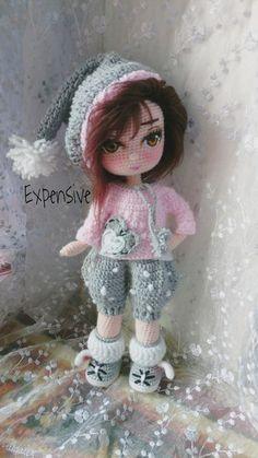 Sweet Faery Creations: ✿ CAL Tejemos juntas a Sarah – Iniciamos – BuzzTMZ Yarn Dolls, Knitted Dolls, Crochet Dolls, Crochet Yarn, Crochet Eyes, Cute Crochet, Pretty Dolls, Cute Dolls, Crochet Doll Pattern