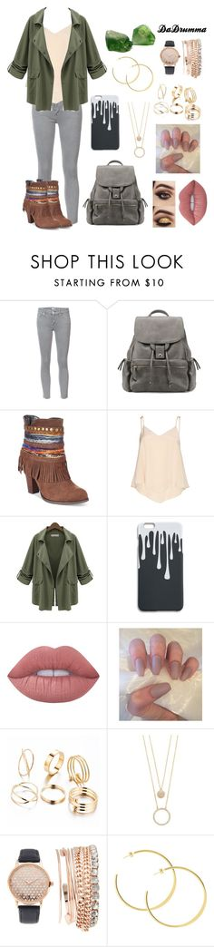 """""""Cute Boots"""" by dadrumma ❤ liked on Polyvore featuring Mother, Mojo Moxy, Alice + Olivia, Chicnova Fashion, Lime Crime, Kate Spade, Jessica Carlyle and ootd"""