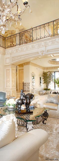 "♥ ~ !""J ' adore FRANCE! ~ ♥ ***French Chateau style living room***"