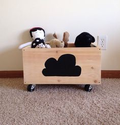 This is adorable! Toy/Teddy Crate by TheLittleRedCabin on Etsy, $78.00