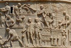 Detail from Trajan's Column, Rome.