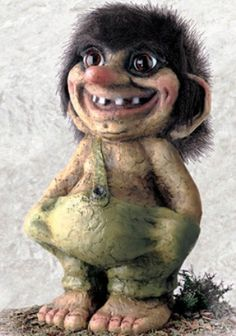 840100 Troll boy large from Troll shop Troll size large Magical Creatures, Fantasy Creatures, Beautiful Creatures, Fantasy Landscape, Fantasy Art, Folklore Stories, Les Fjords, Steampunk Mask, Funny Troll
