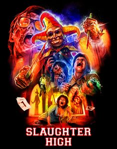 """""""Slaughter House"""" AMP (actually its a shirt design by heh) by Devon Whitehead for Part of an o. Horror Icons, Horror Movie Posters, Movie Poster Art, Slasher Movies, Horror Movie Characters, Horror Photos, Horror Artwork, Cinema, Scary Art"""