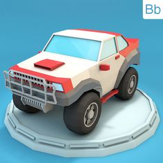 Low Poly Racing Jeep