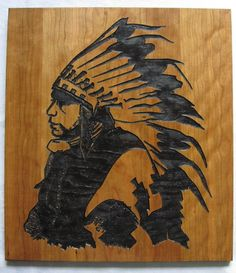 Native American Indian Wood Carvings | Handmade Carved Wood Native American Indian Art - wall hanging/sign ...