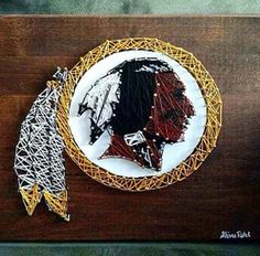 Some very cool #Redskins string art. #HTTR