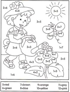 math coloring worksheet addition for easter Math Coloring Worksheets, Kindergarten Worksheets, Worksheets For Kids, Preschool Activities, Math Addition, 1st Grade Math, Homeschool Math, Math For Kids, Kids Education