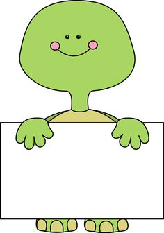 Cute free clipart site singing time pinterest turtle clip art turtle holding a blank sign voltagebd Choice Image