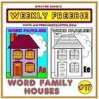 Students write word families in the windows, door and even chimney of each house! Ee Words, Kindergarten Projects, Phonological Awareness, English Fun, Rhyming Words, Word Study, Word Families, To Youtube, Phonics