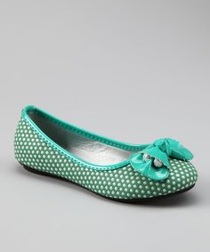 Green Vivi Bow Flat  these are kids size & i could fit in them!!!!!!!