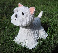 Westie PDF Crochet Pattern  Digital Download by ScareCrowOriginals