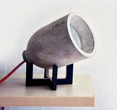 nice concrete lamp