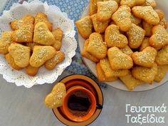 ΠΑΡΑΔΟΣΙΑΚΑ ΚΟΥΛΟΥΡΑΚΙΑ ΟΥΖΟΥ. - Daddy-Cool.gr Pretzel Bites, Sweet Recipes, Biscuits, French Toast, Bread, Cookies, Baking, Breakfast, Food