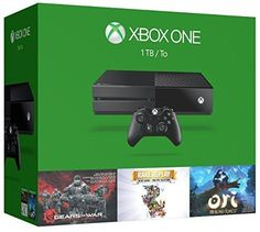 Xbox One 1TB Console - 3 Games Holiday Bundle (Gears of War: Ultimate Edition  Rare Replay  Ori and the Blind Forest)