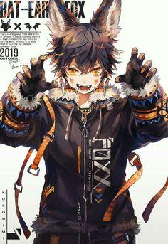 Anime you'll never see on TV Anime Neko, Anime Cat Boy, Neko Boy, Cool Anime Guys, Cute Anime Boy, Dark Anime, Furry Art, Fantasy Character Design, Character Art