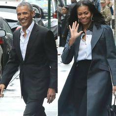 "1,407 Likes, 26 Comments - Barack Obama Fanpage (@the_obamas_) on Instagram: ""Barack Obama and Michelle Obama in NYC today❤. #Barackobama #presidency #michelleobama #nyc…"""