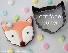 Fox Cookies from a Cat Face Cutter | Make Me Cake Me
