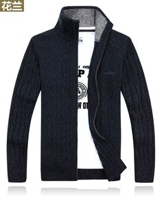 New winter plus size mens sweaters men thick long sleeve wool cardigan men sweater jacket casual knitted sweater clothing WE399