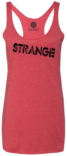 Strange (Black) Tri-Blend Racerback Tank-Top