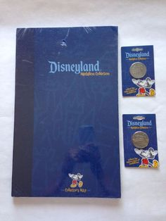 Disneyland Medallion Collection Collectors Map - 2 Coins Jungle Cruise Toontown
