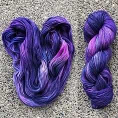 Wild Star Fibers hand dyed yarn.    I asked for naming help on this colorway on Instagram. The winning name is Astral Projection.